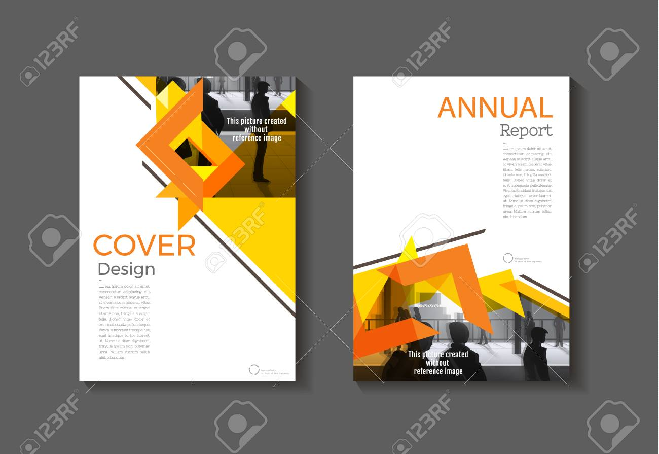 orange abstract cover modern cover book brochure template design