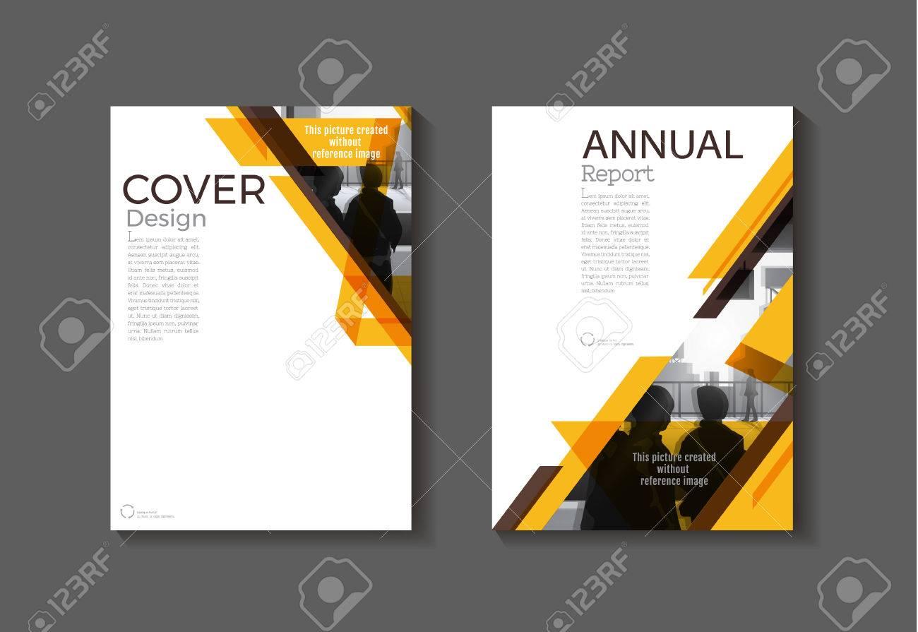 Brown Amarillo Resumen Cubierta Moderno Libro De Cubierta Folleto ...