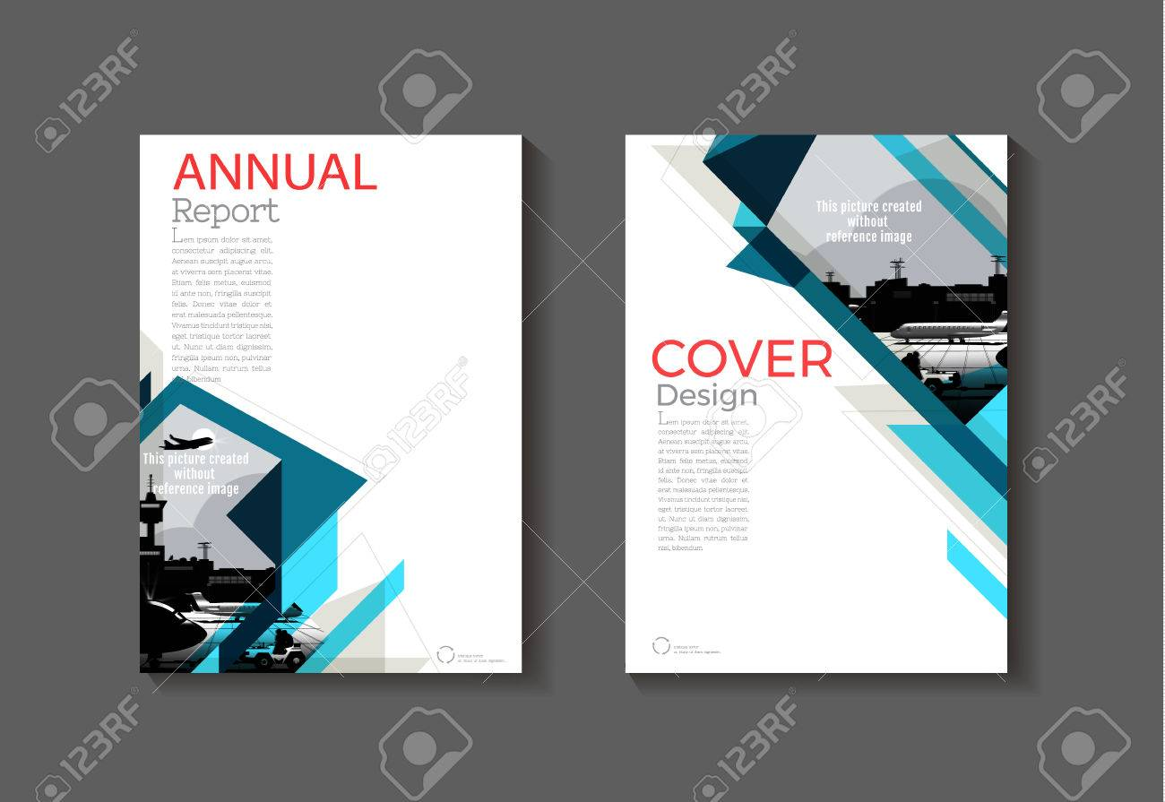dark blue abstract cover modern cover book brochure template