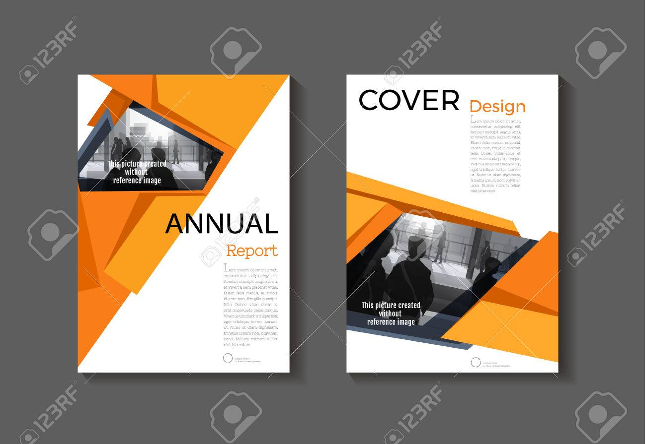 yellow abstract cover modern cover book brochure template design