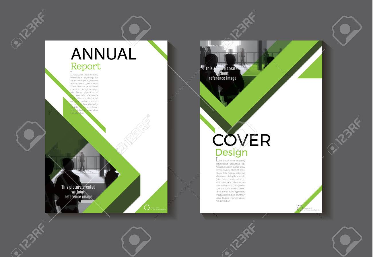 Green Cover Design Modern Book Cover Abstract Brochure Cover ...