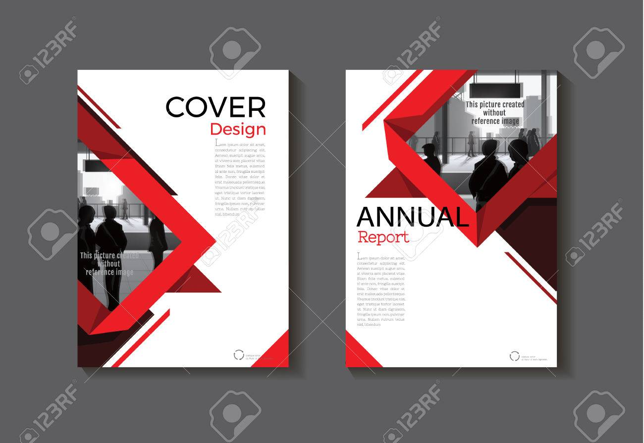Red Design Buchumschlag Moderne Abdeckung Abstrakt Broschüre ...