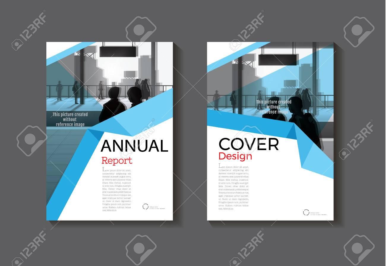 Ein Blaues Modernes Buch-Cover-Design Abstrakt Broschüre Cover ...