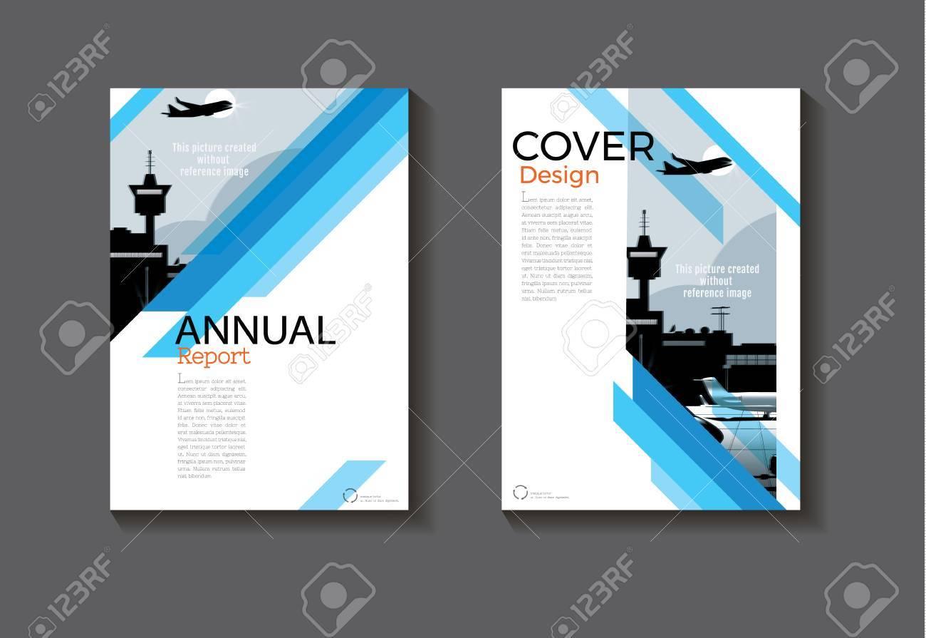 Blaue Design Buch Cover Moderne Abdeckung Abstrakte Broschüre Cover ...