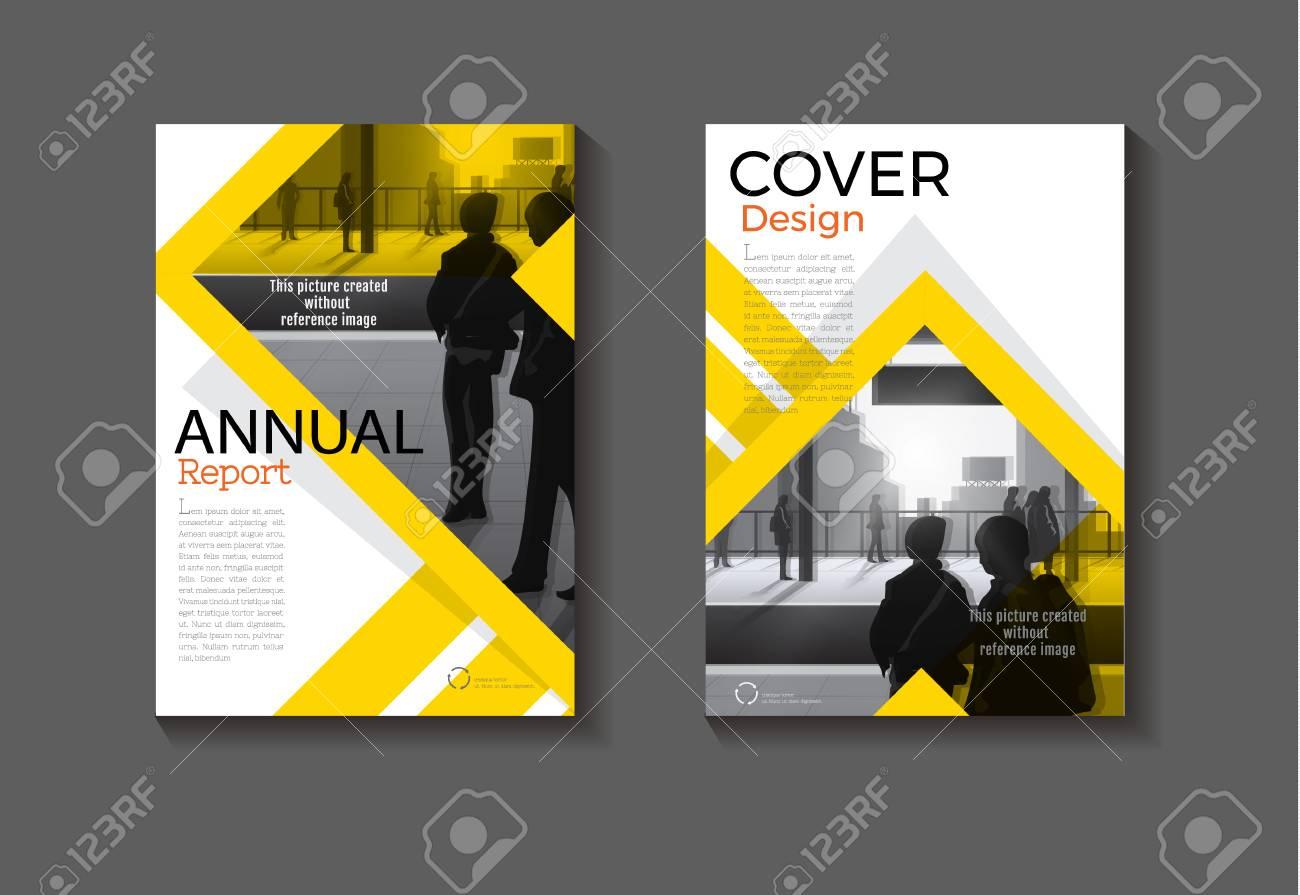 Abstrakte Gelbe Cover Design Moderne Buch Cover Abstrakte Broschüre ...