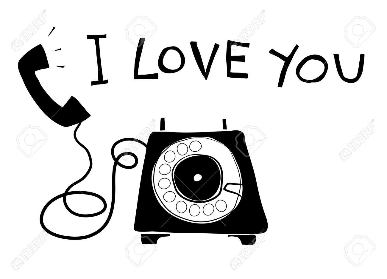 telephone vintage art hand drawn vector line art illustration - 169994847