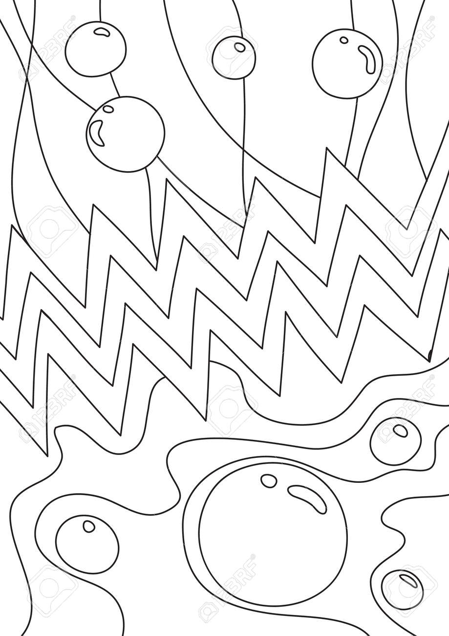 coloring book Abstract Bubble cute line art hand drawn artwork vector illustration a4 - 169994872