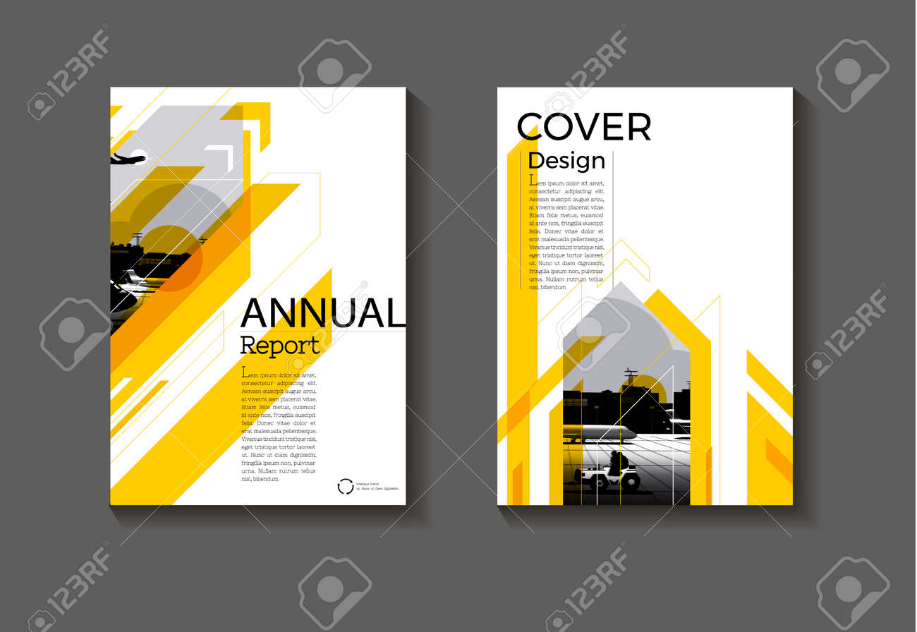 cover Yellow Brochure background abstract modern design modern book cover cover template,annual report, magazine and flyer layout Vector a4 - 169994874