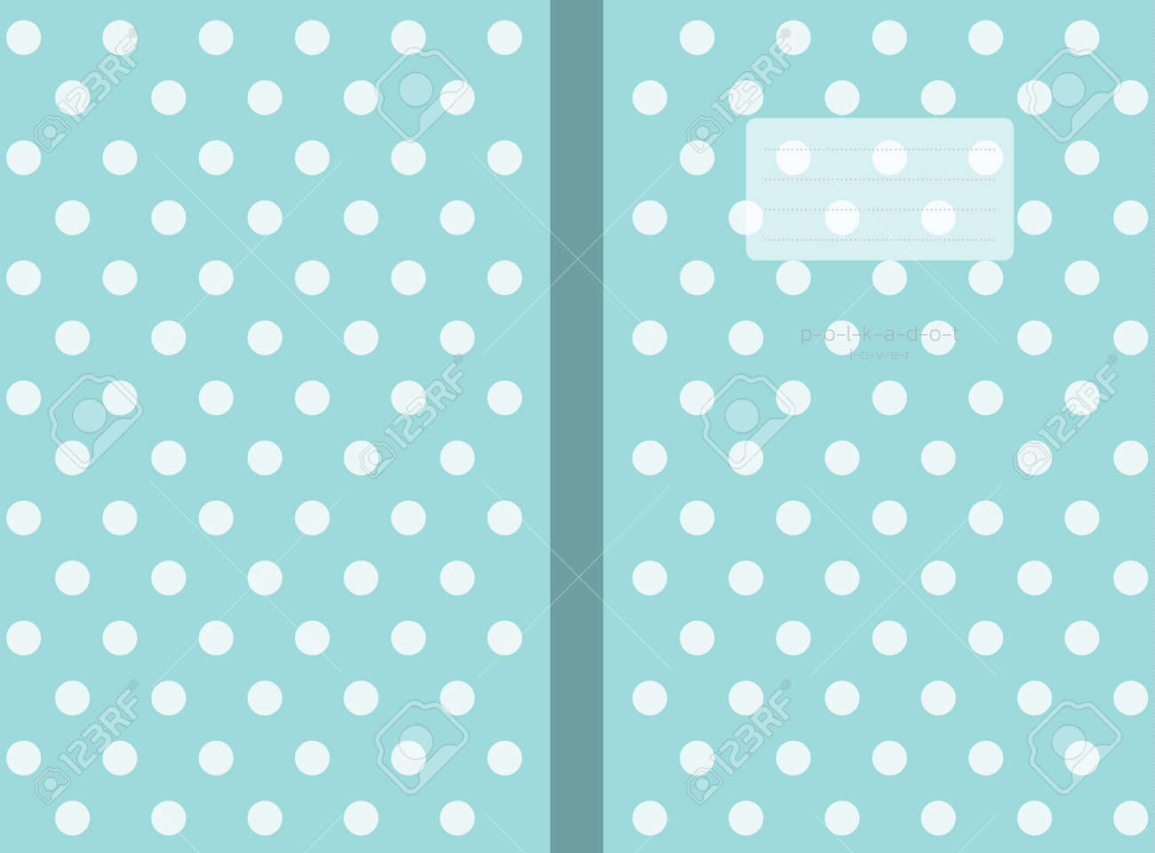 polka dots small lined Polka dot Notebook cover Travel Journal sized 6 x 9 in for120 pages - 169994912