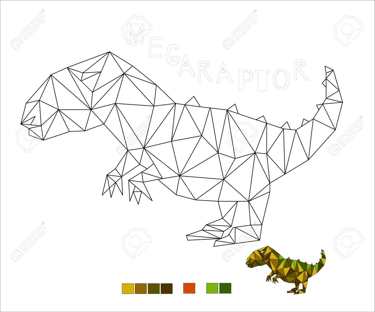 coloring Megaraptor dinosaur vector illustration for kids - 171390854