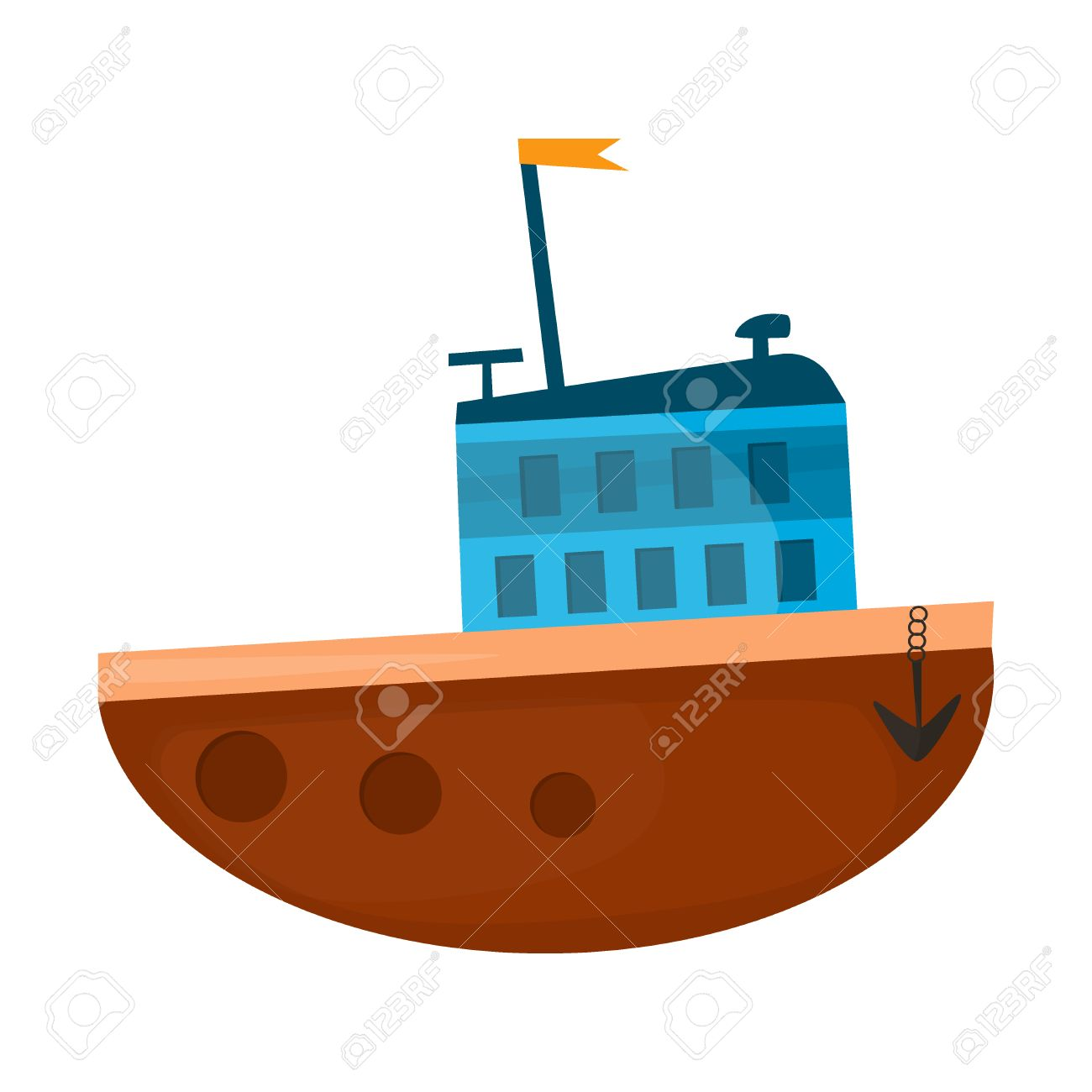 Cartoon Navire Illustration Bateau Cartoon Transport Navire De Mer