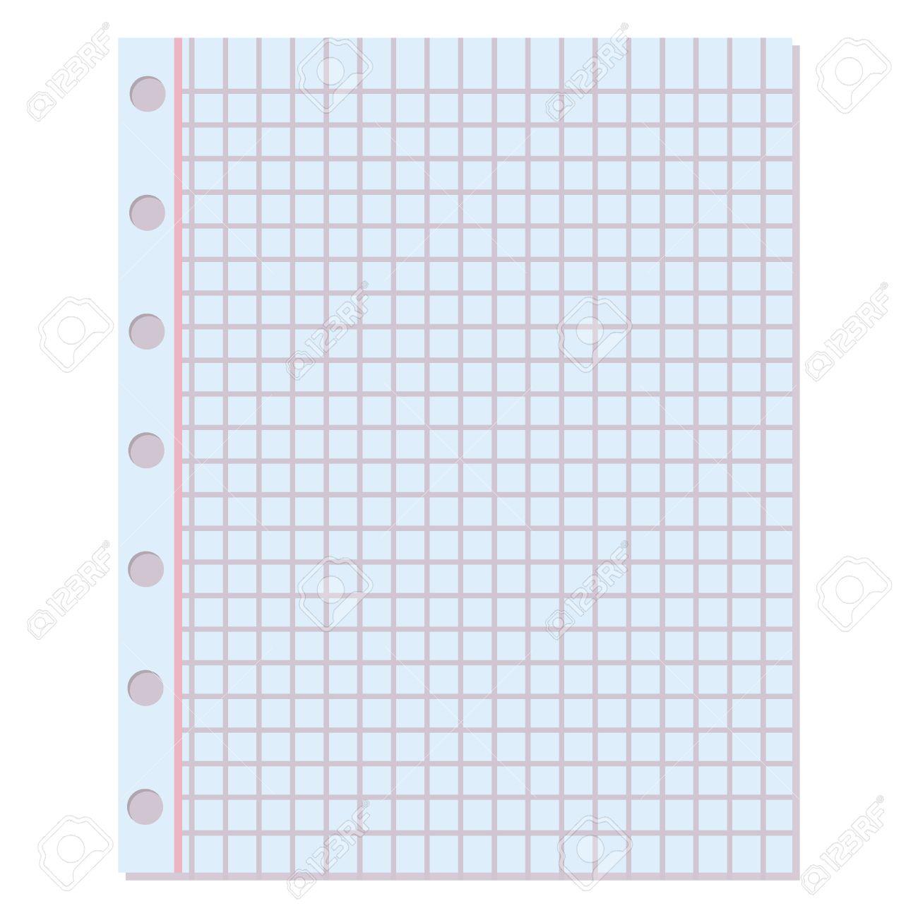 Cuaderno De Papel De Fondo. La Enseñanza Del Diseño En Blanco De ...