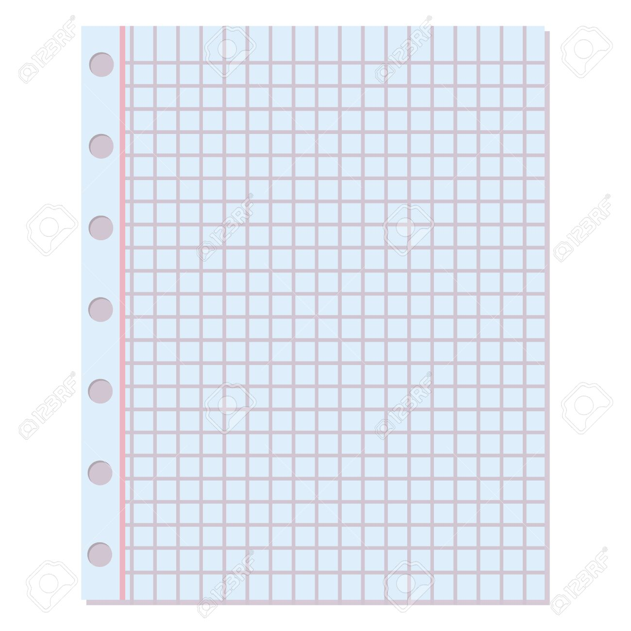 Notebook Paper Background. Blank Education Design Notepad Empty Notebook  Paper Sheet. Template Object Line  Notepad Paper Template