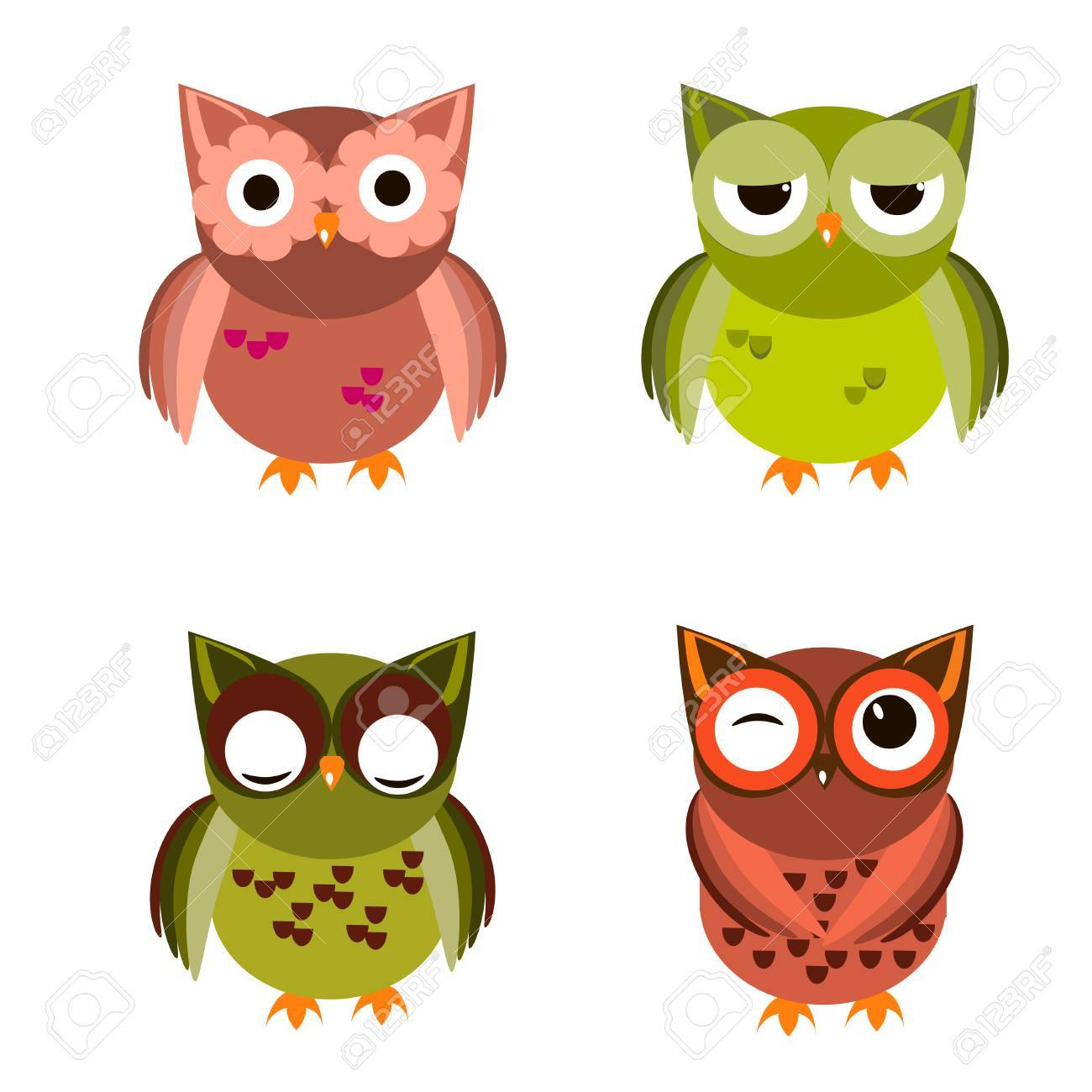 cute vector owl characters showing different species include rh 123rf com vector bowling green ky vector bowling green ky