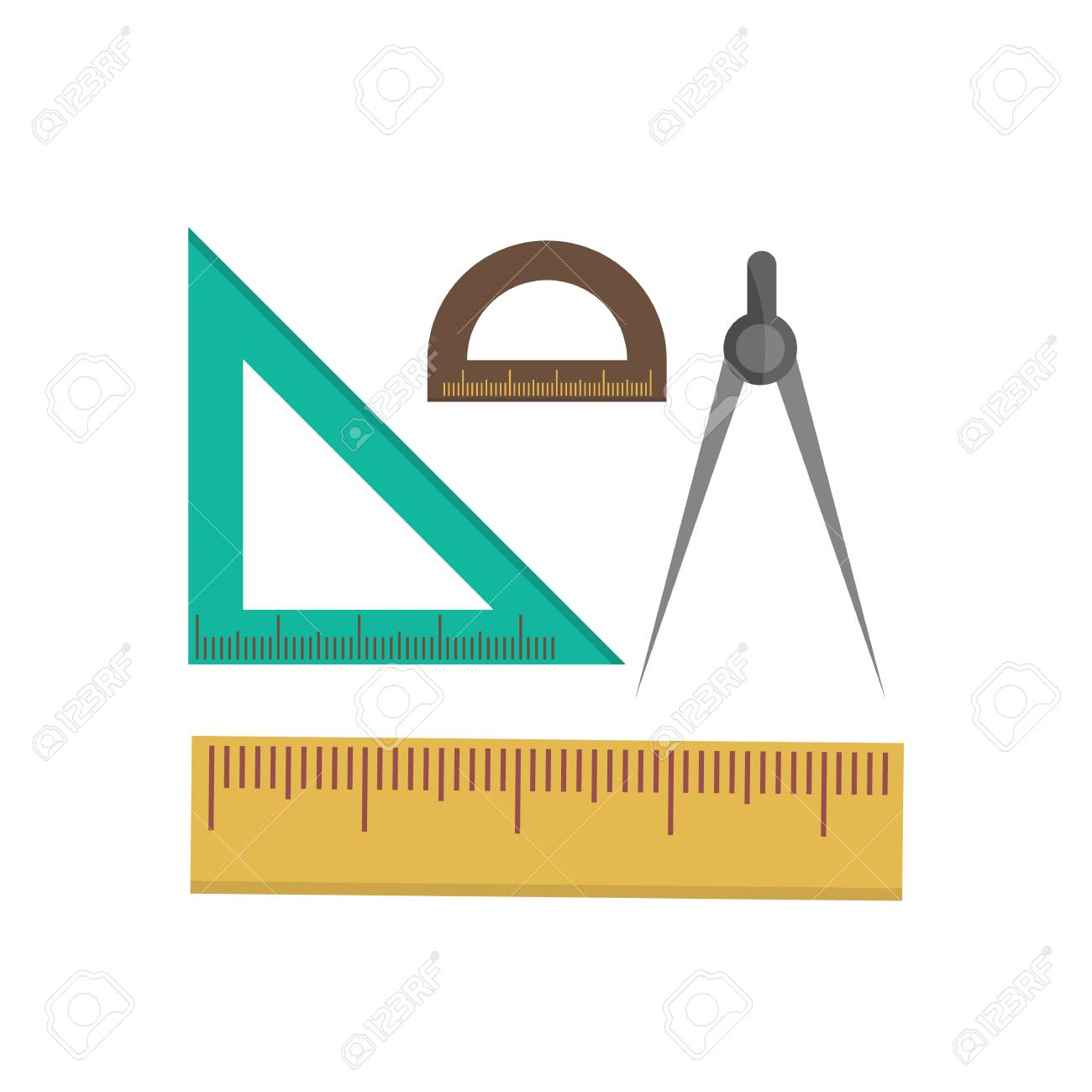 Color school measuring rulers in centimeters and inches vector color school measuring rulers in centimeters and inches vector set stock vector 81916323 buycottarizona Image collections