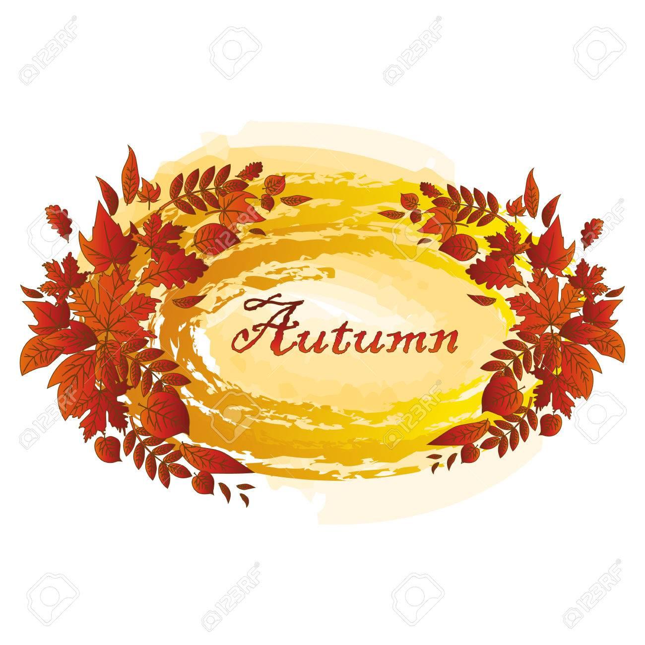 Autumn Leaves Set Simple Nature Leaf Cartoon Flat Style Vector