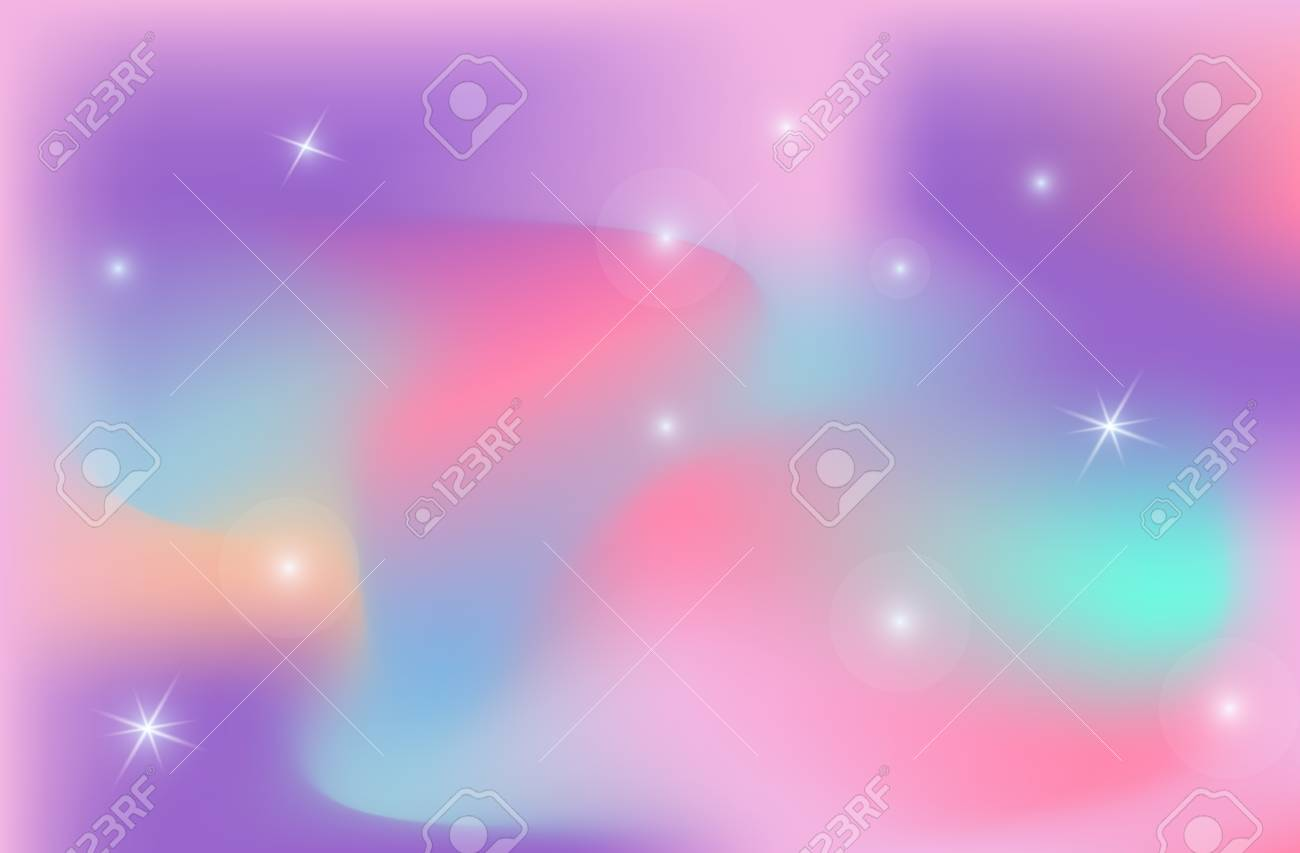 Unicorn Backdrop Background Color Gradient Mesh Vector Universe