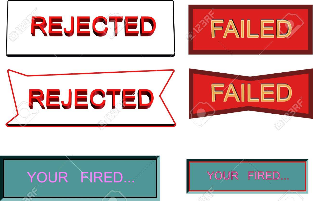 your fired and rejection notices Stock Photo - 4499775