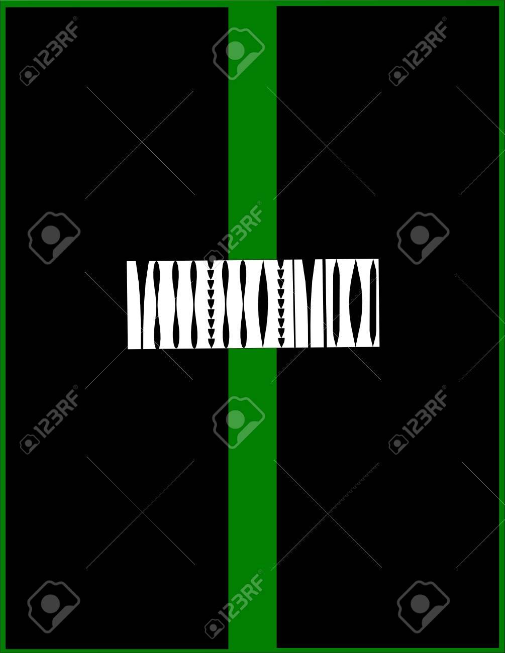 Derriere La Porte Verte Element De Code A Barres Clip Art Libres De
