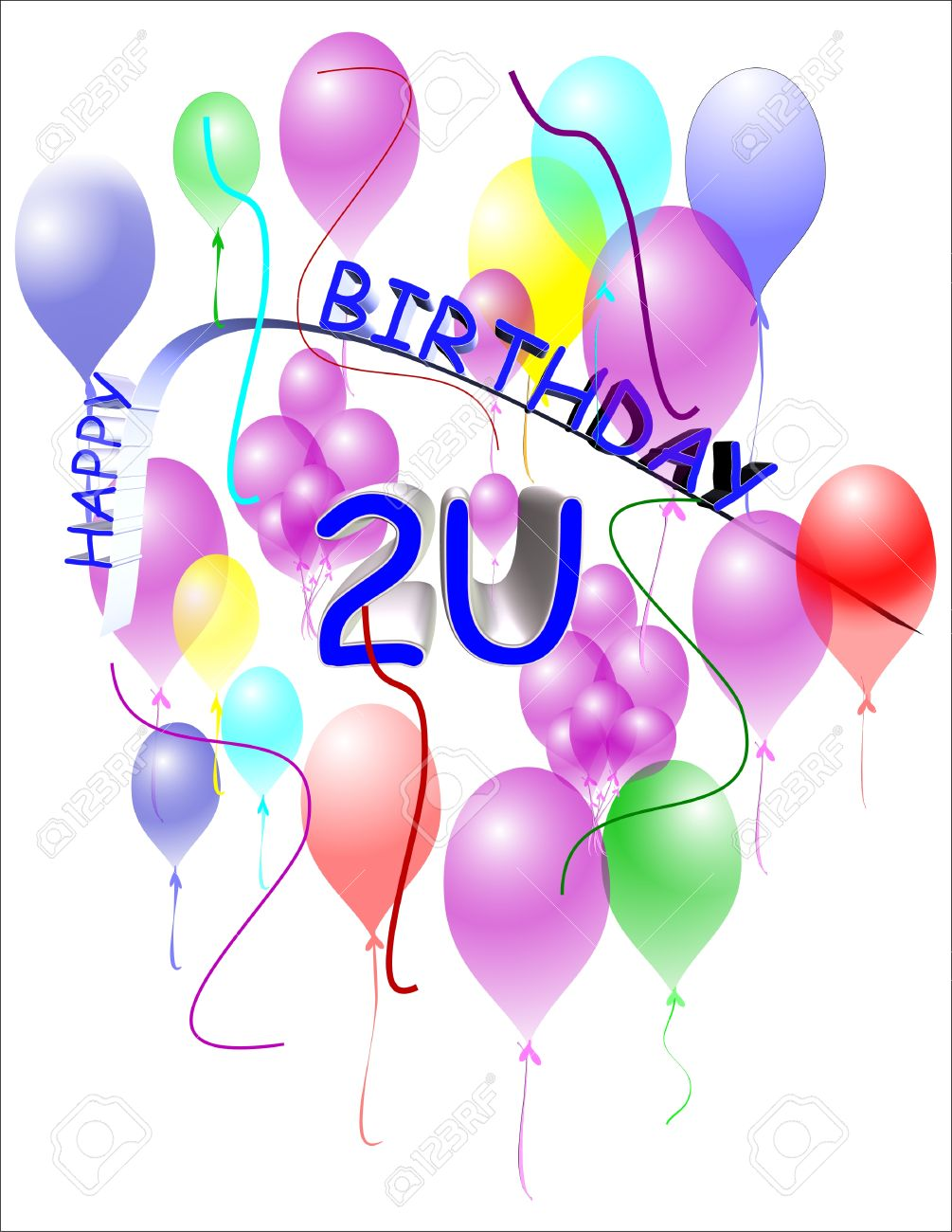 Happy birthday greeting in 3d on white with curved text royalty happy birthday greeting in 3d on white with curved text stock vector 7158218 kristyandbryce Gallery