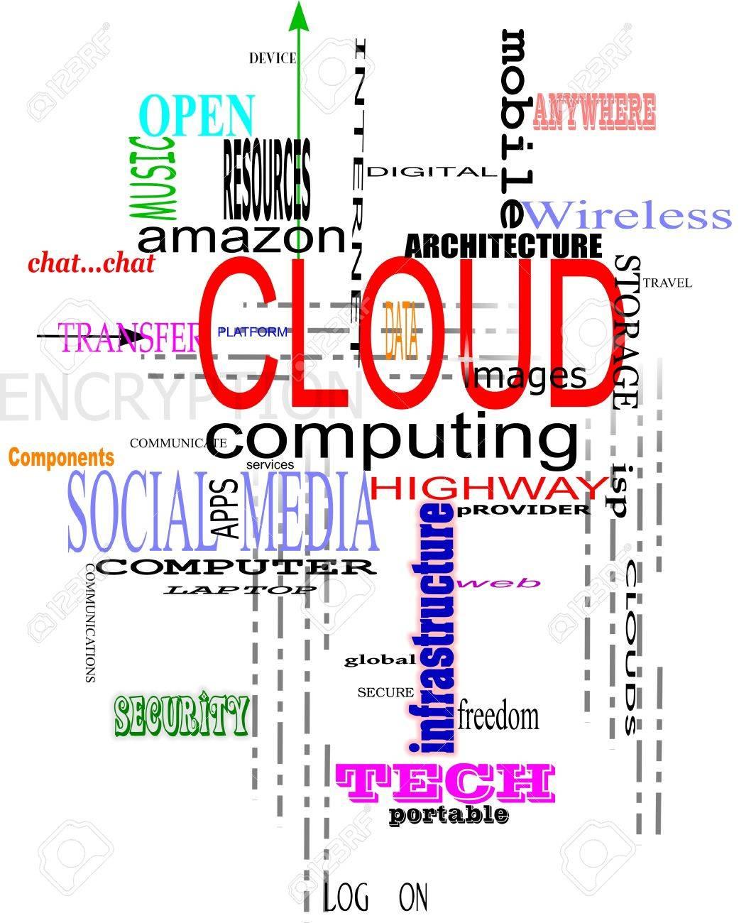 cloud computing background Stock Vector - 9640590