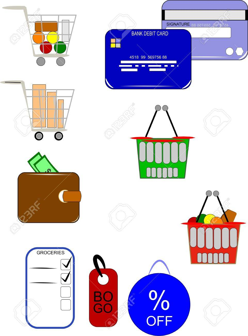 grocery and retail and wholesale elements Stock Vector - 9823569