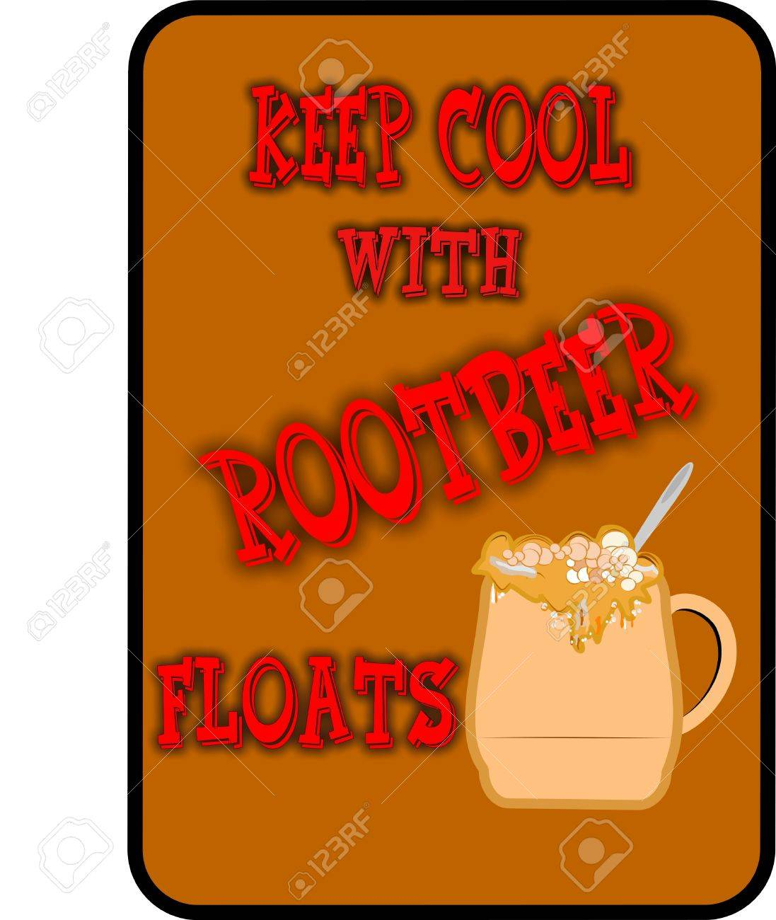 keep it cool root beer  floats background Stock Vector - 9930368