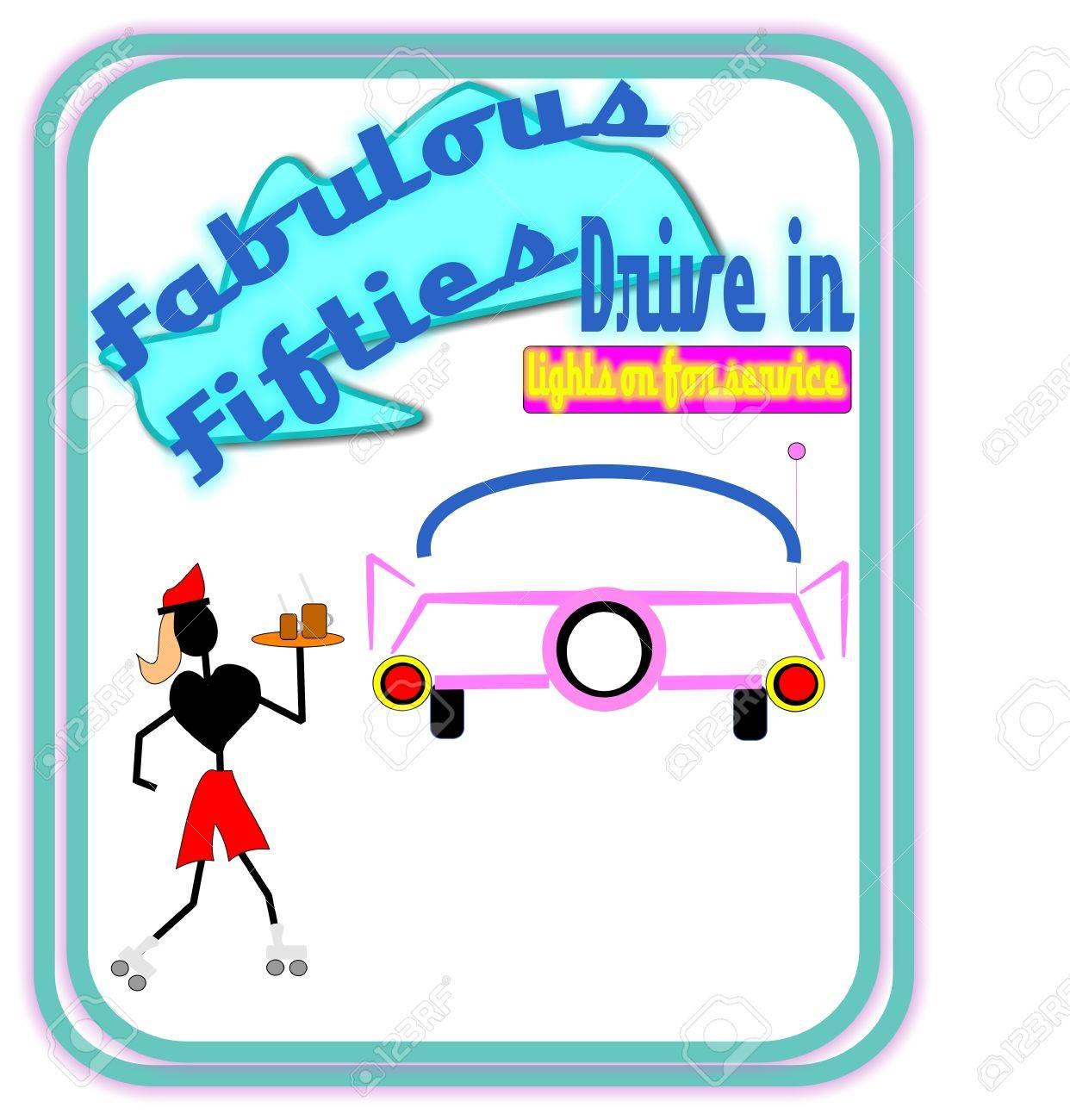 fabulous fifties drive in Stock Photo - 9952988