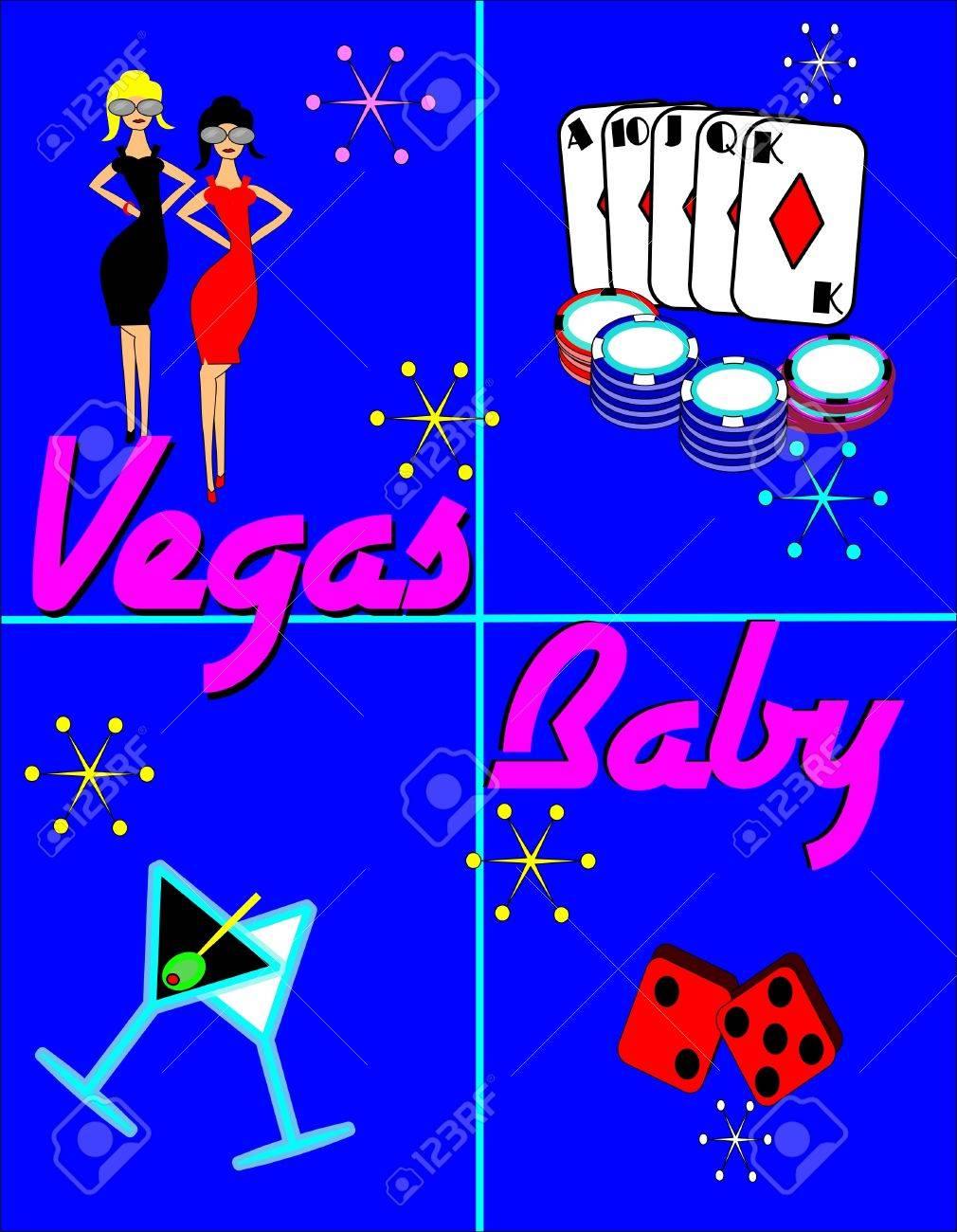 vegas baby background Stock Vector - 10257244