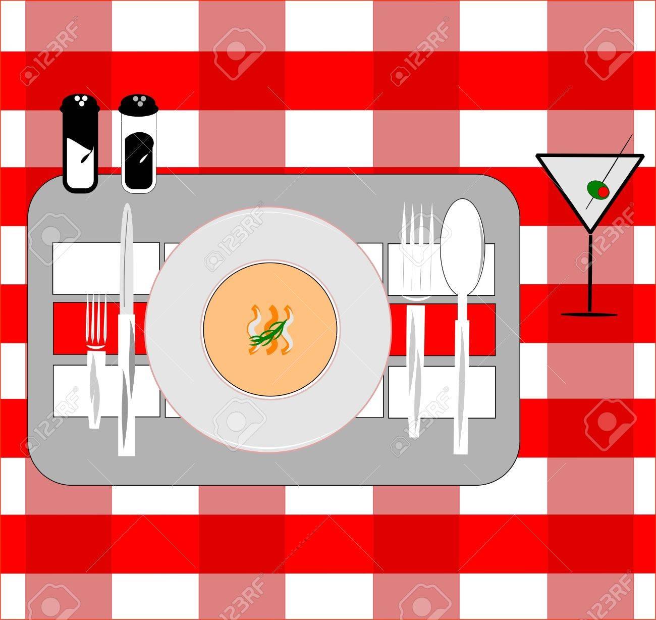 Tarjeta De Colocación Para Restaurantes Ilustraciones Vectoriales ...