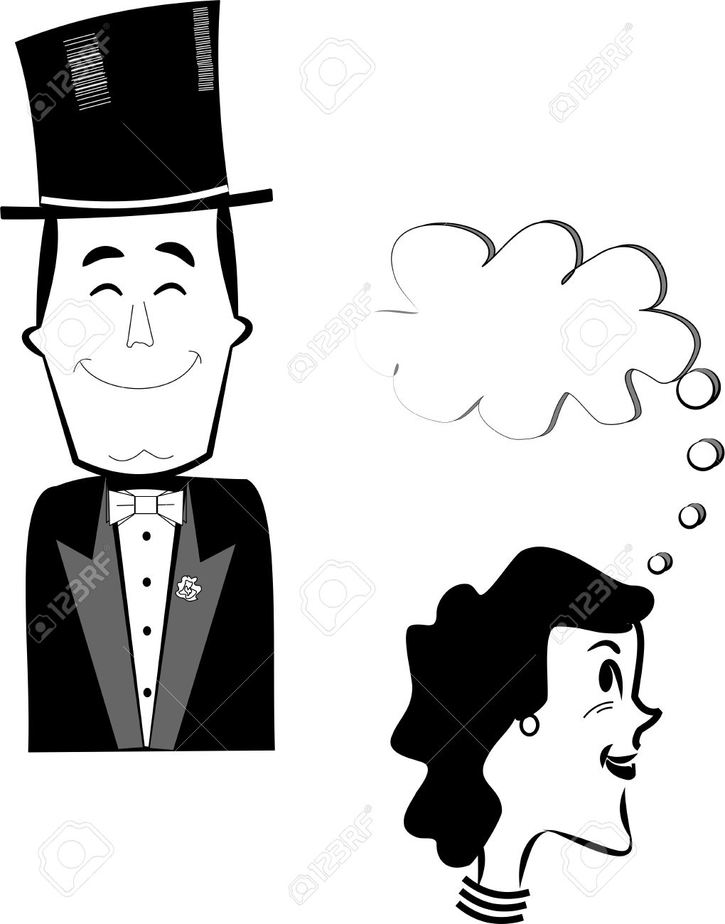 well dressed man in top hat and tuxedo Stock Vector - 11418234