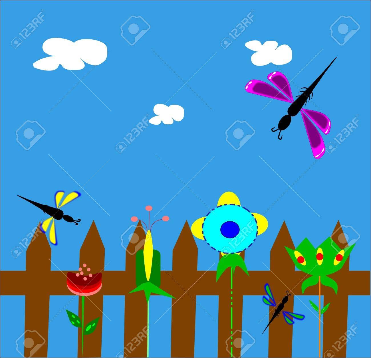 Flowers Clipart Background clipart - Fence, Garden, Flower, transparent clip  art