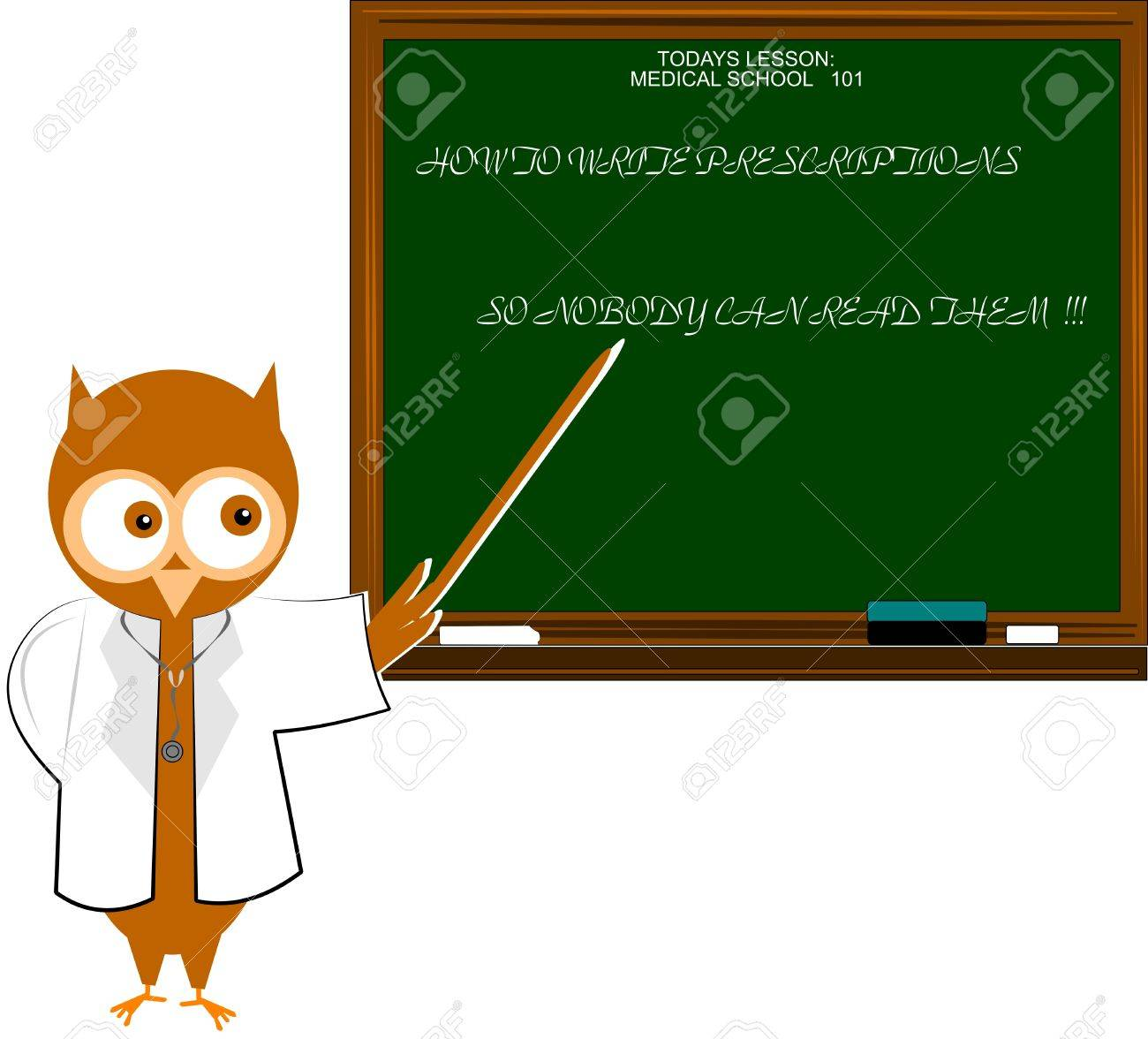 doctor owl giving lessons to doctors Stock Vector - 11874435