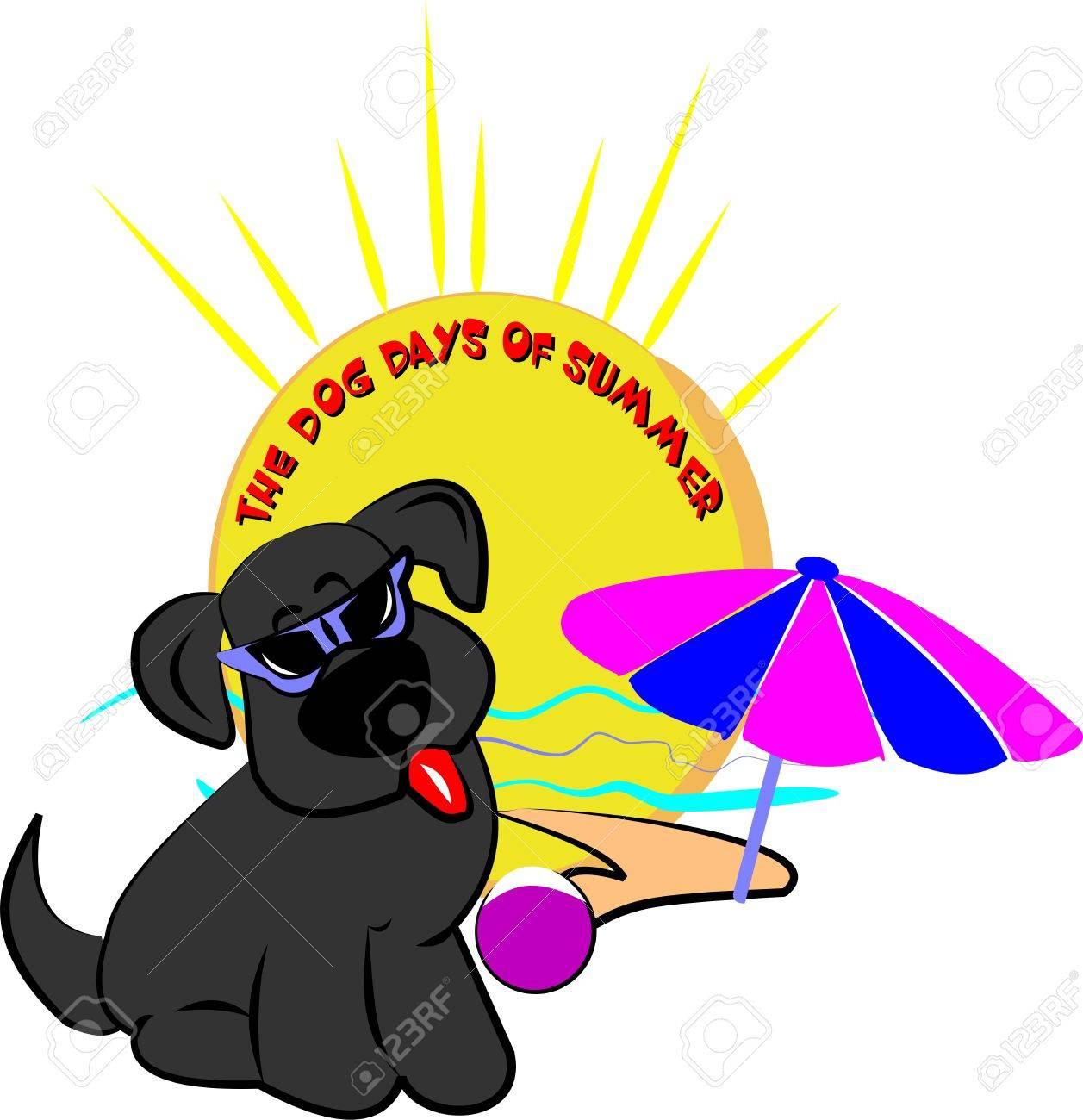 dog days of summer royalty free cliparts vectors and stock rh 123rf com Summer Border Clip Art Snoopy Summer Clip Art