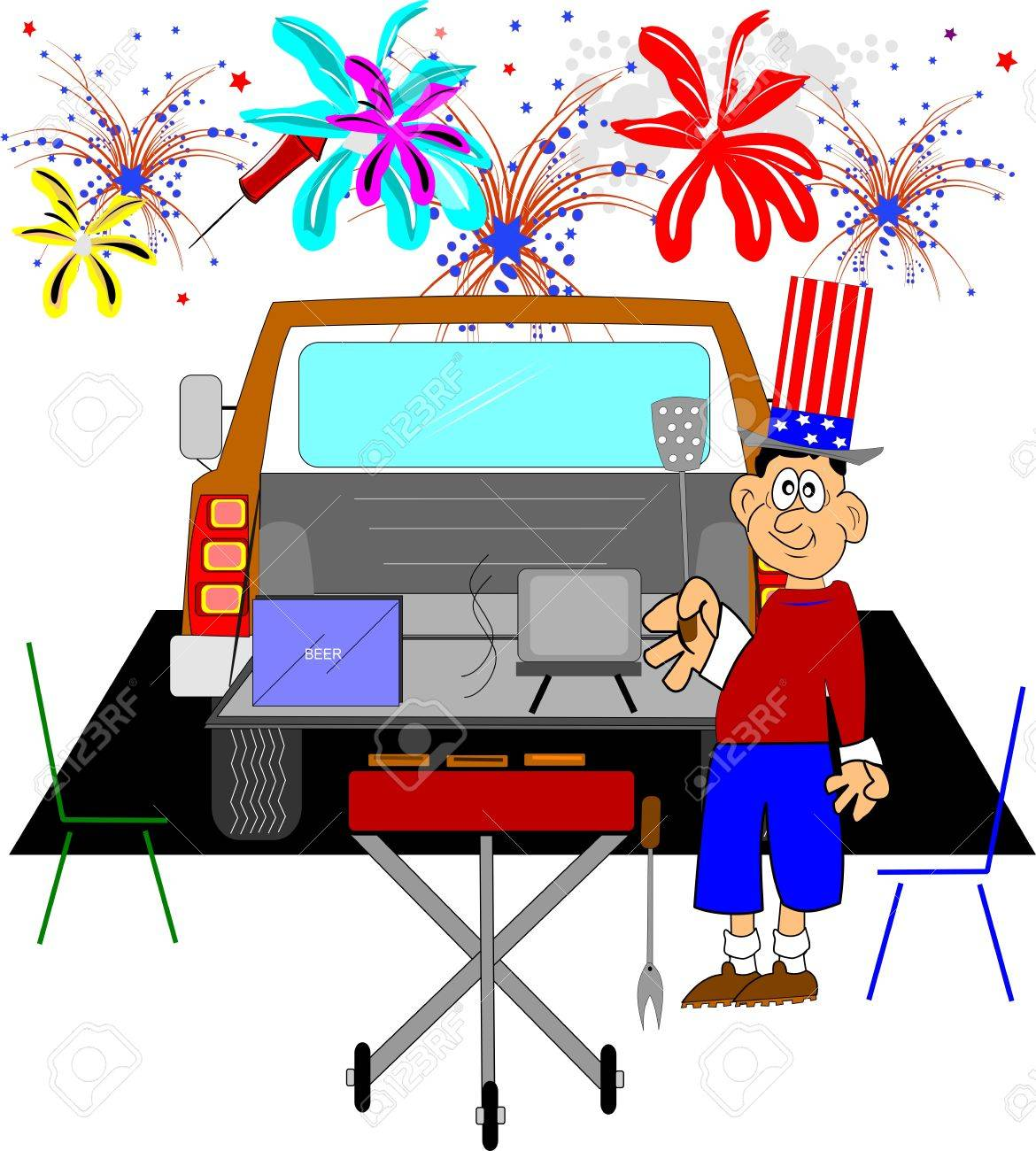july4th tailgate party Stock Vector - 13110765