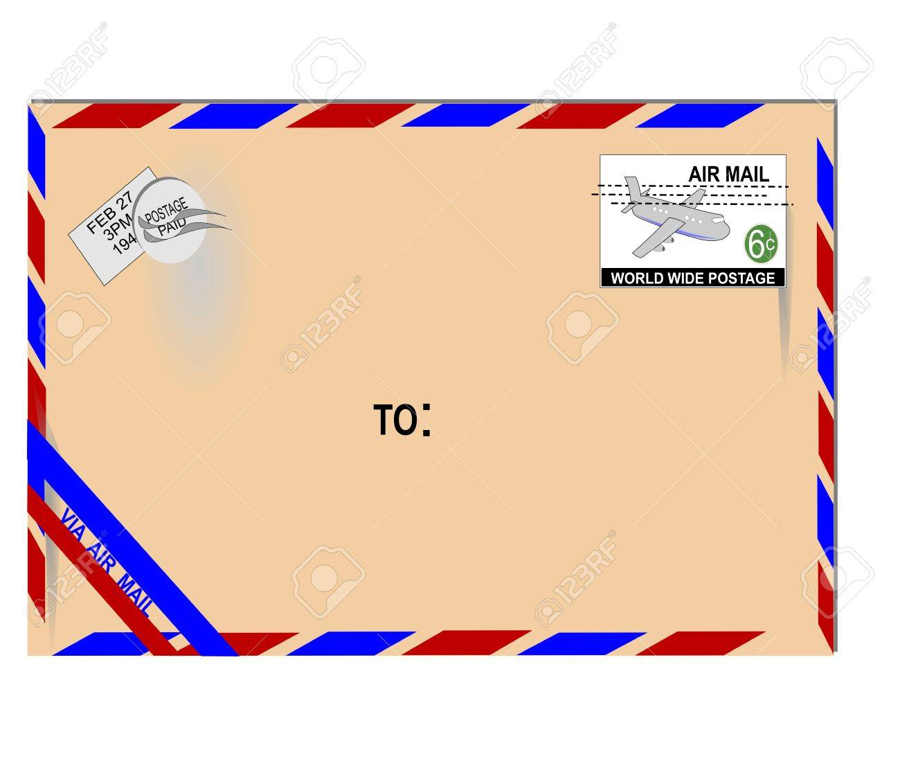Old Air Mail Letter Royalty Free Cliparts, Vectors, And Stock ...
