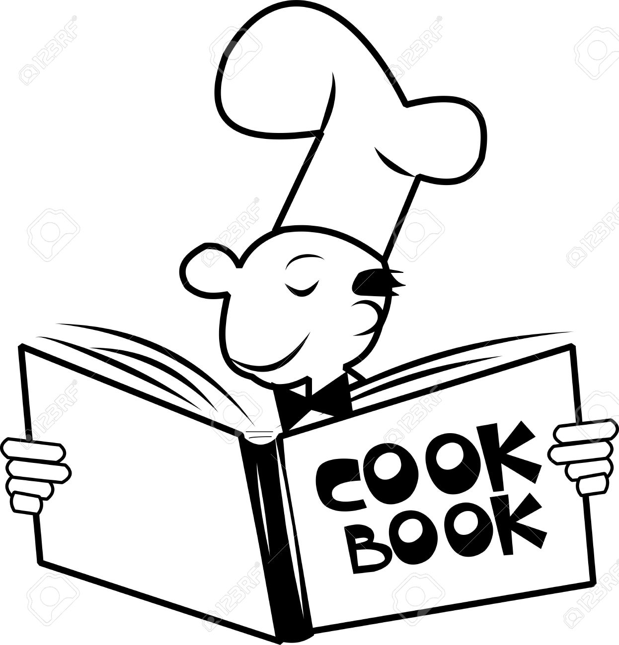 Cookbook With Chef Royalty Free Cliparts Vectors And Stock Rh 123rf Com