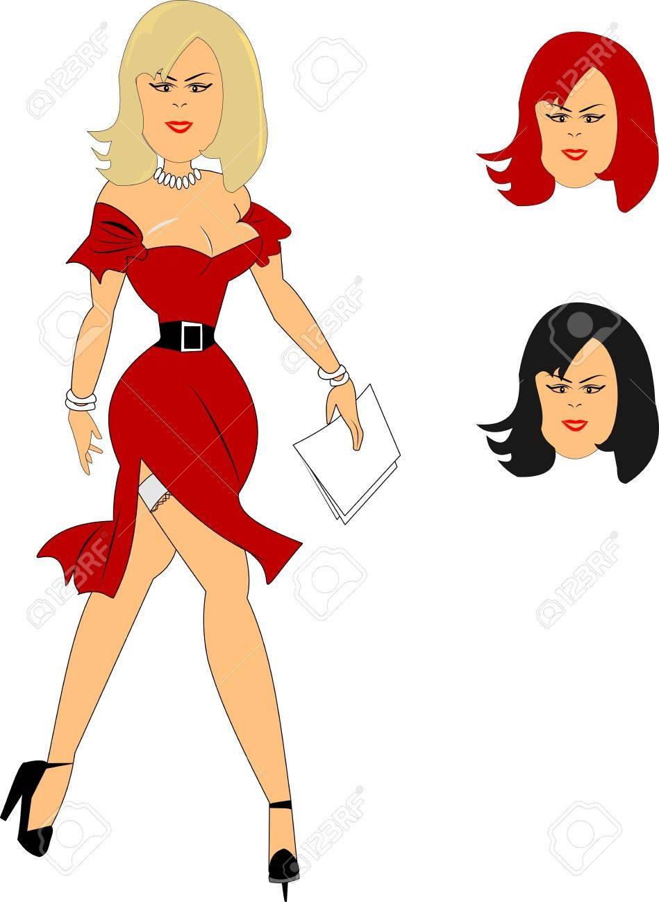 Sexy secretary clip