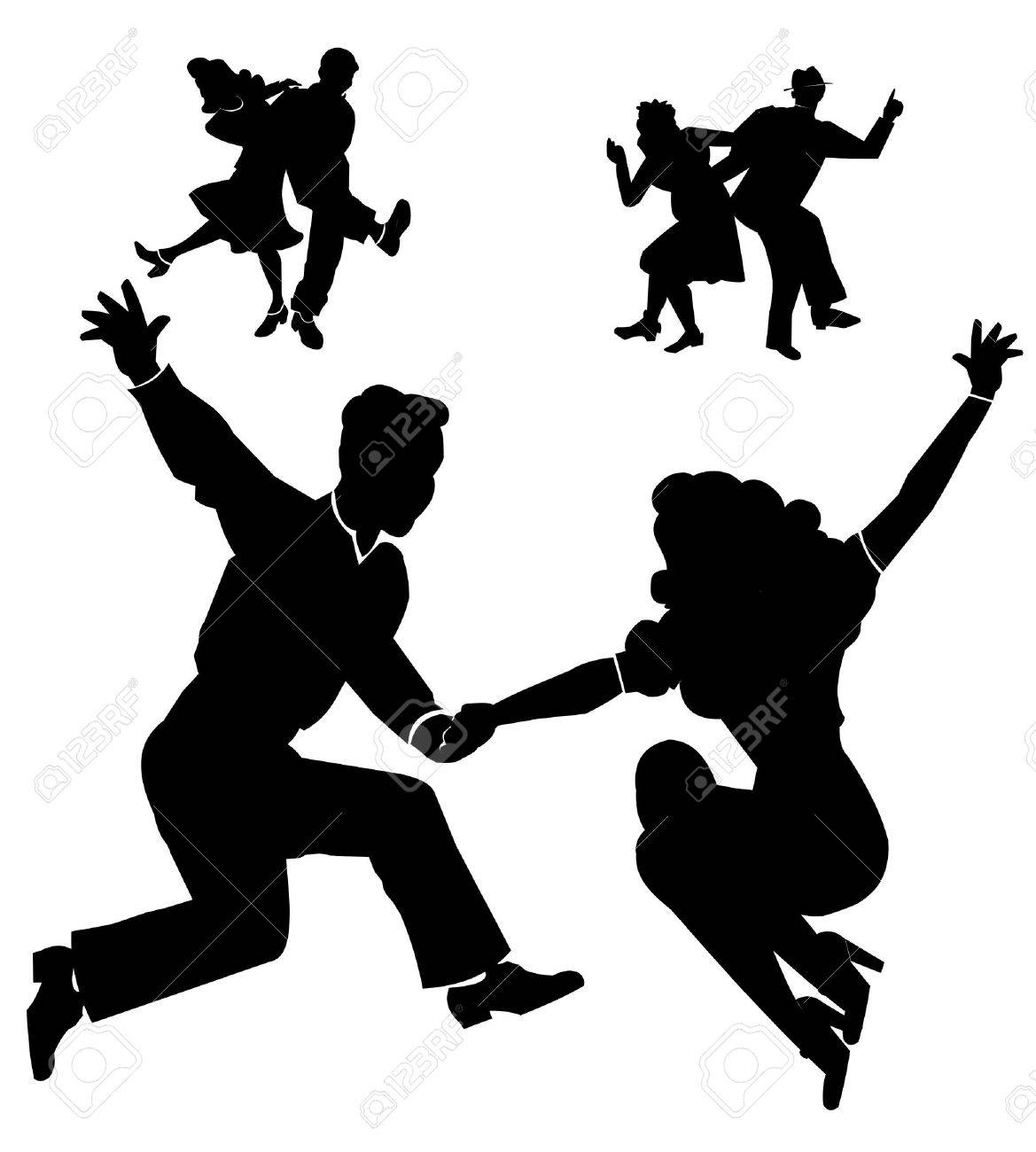 rocking down the house dancers from fifties Stock Vector - 16272342