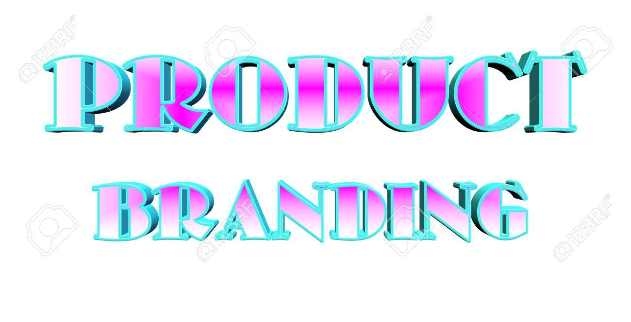 product branding text in 3d over white Stock Vector - 16463393