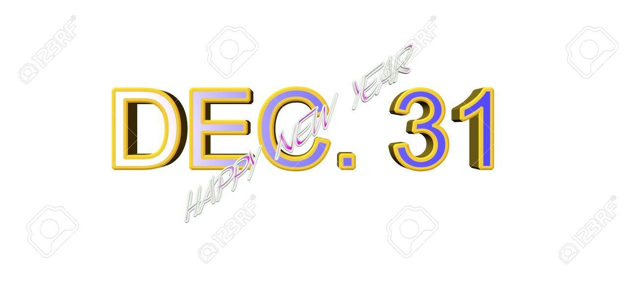 dec. 31 happy new year Stock Vector - 17067776