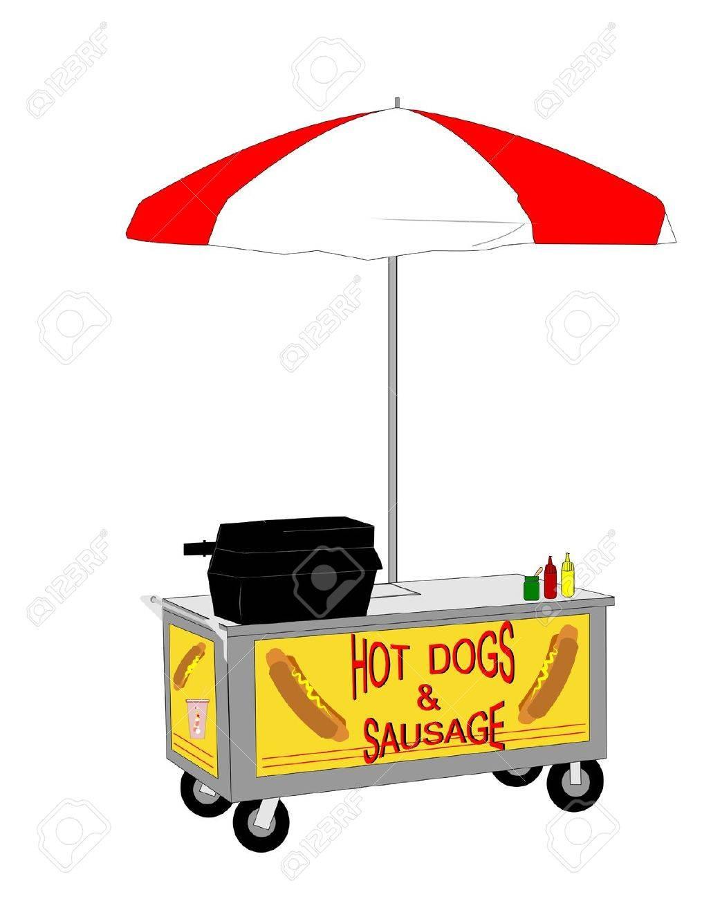 hot dog vendor cart royalty free cliparts vectors and stock rh 123rf com