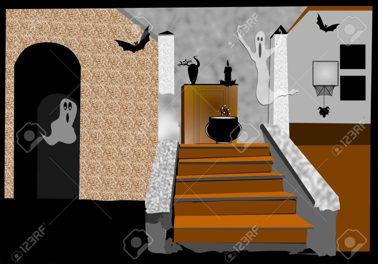 haunted house interior Stock Photo - 23195435