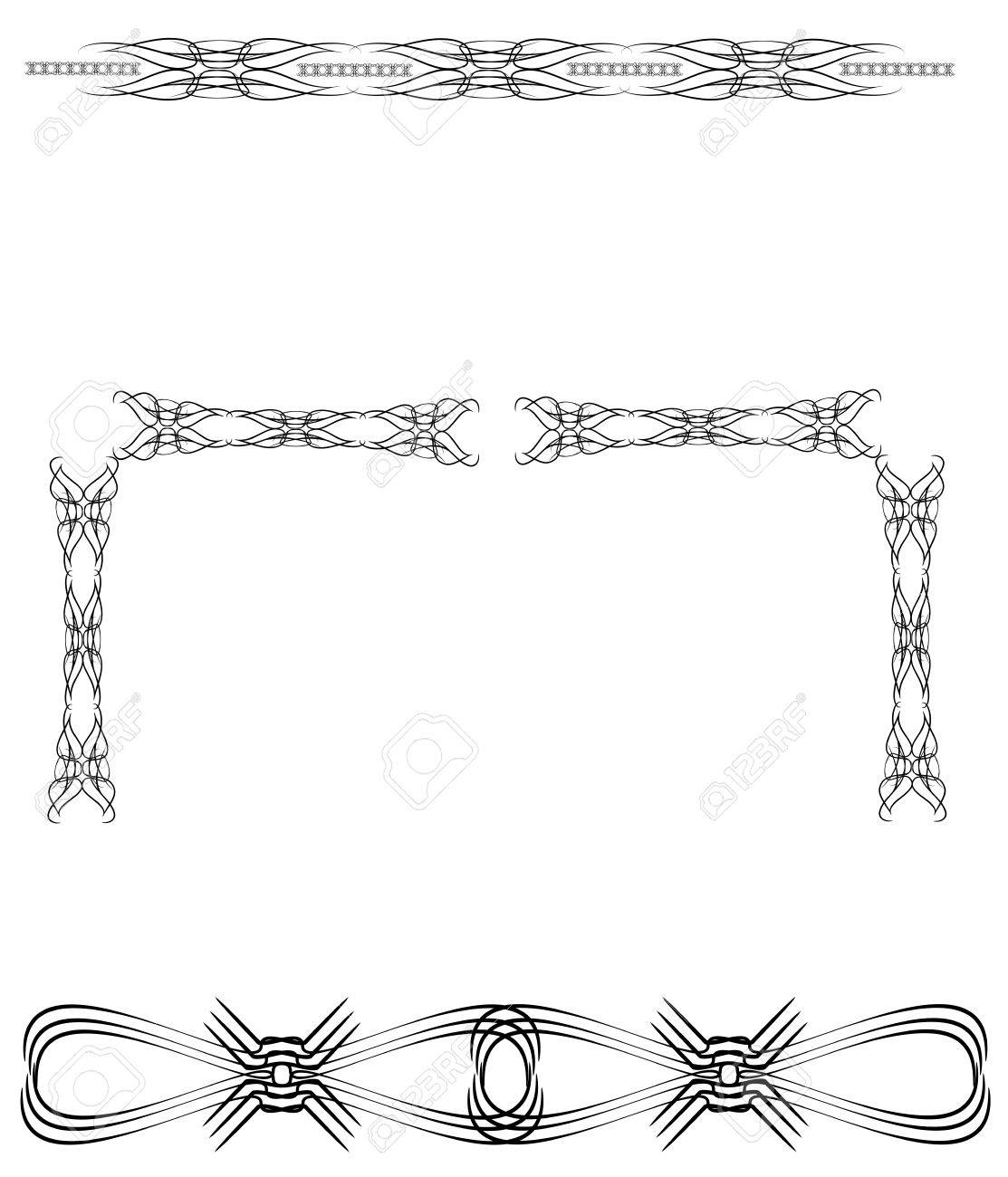 Diseño Tribal Del Tatuaje De La Espalda Baja Ilustraciones