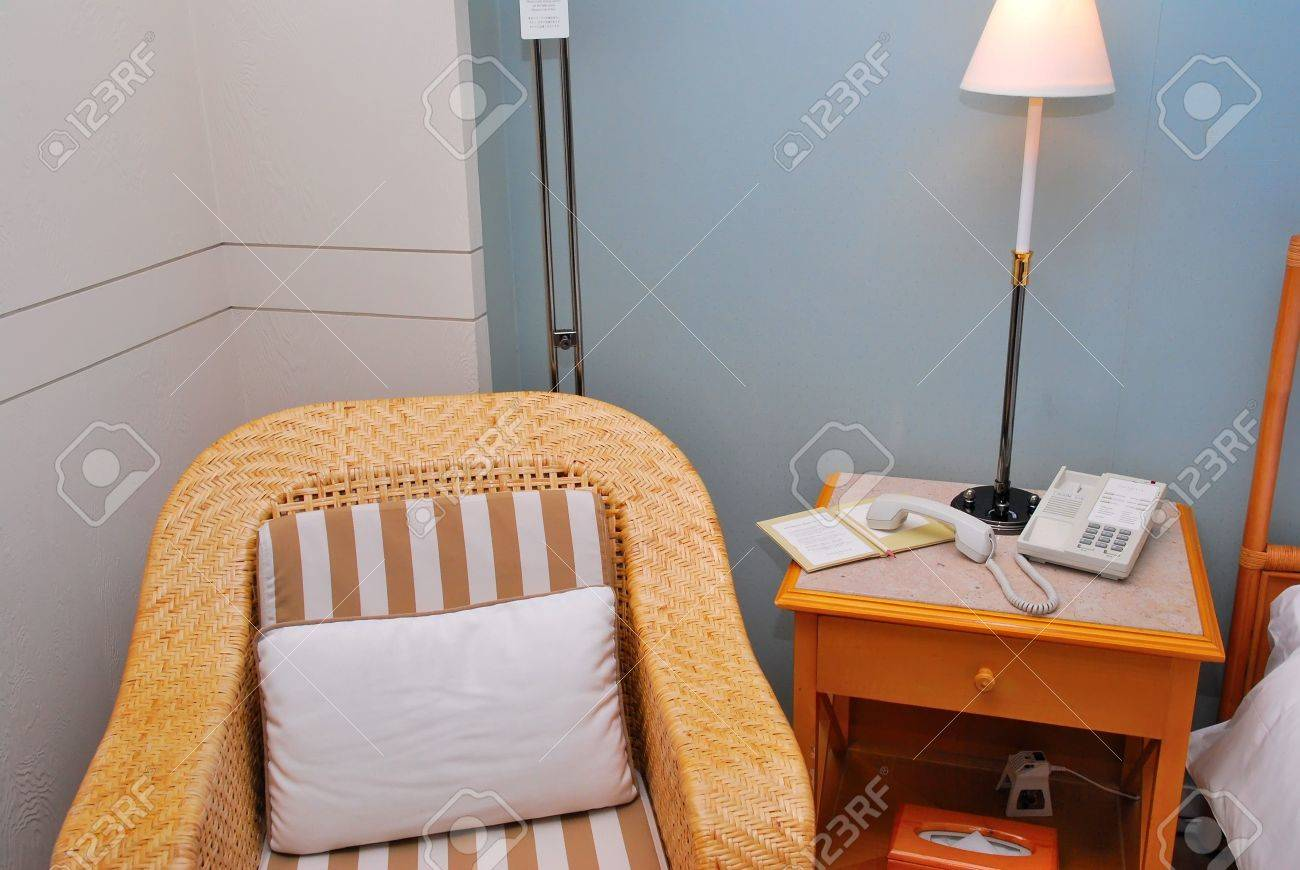 arm chair at bedside table in a high class hotel room stock photo 5355711 - Chair As Bedside Table