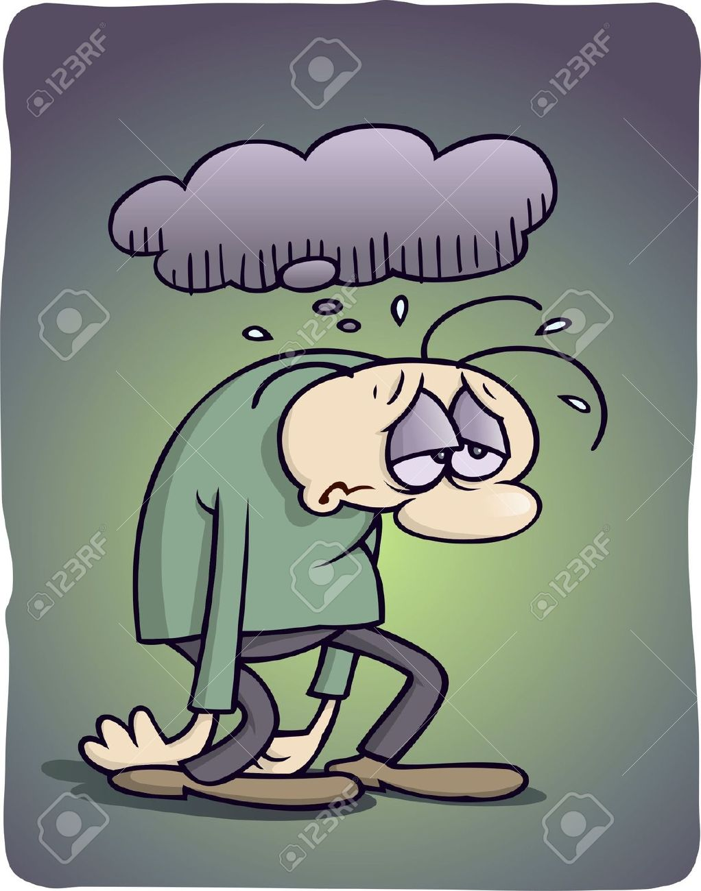 Depressed Cartoon Character Stock Photo Picture And Royalty Free Image Image 4396785