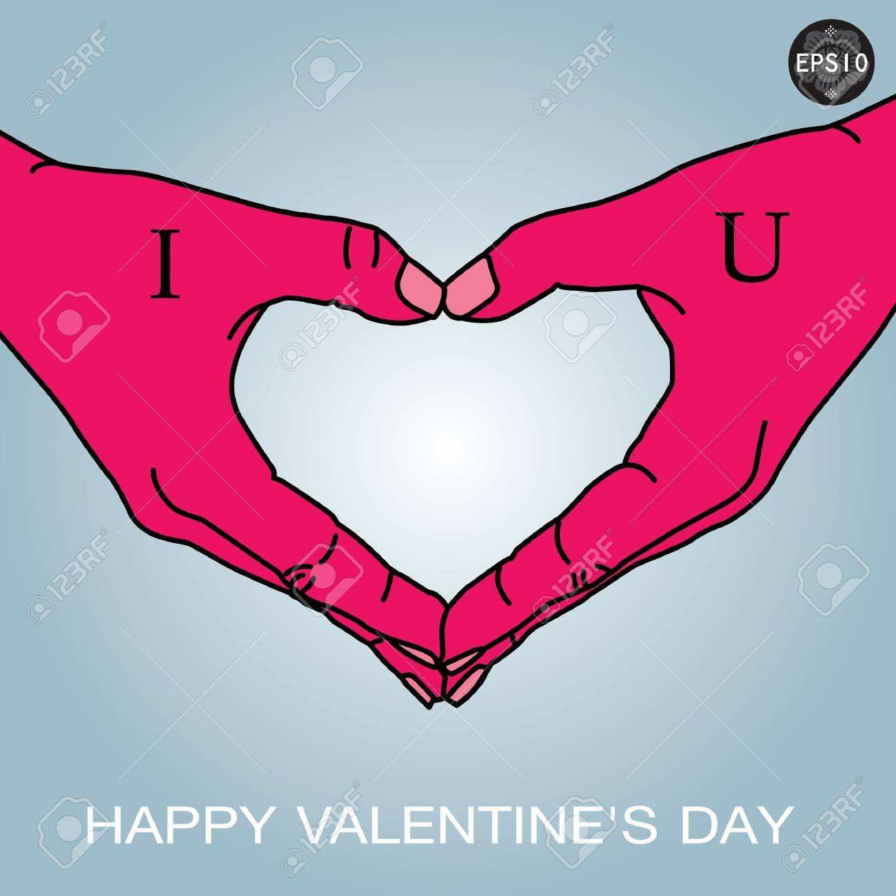 Hand in love shape,vector,eps10 Stock Vector - 17399690