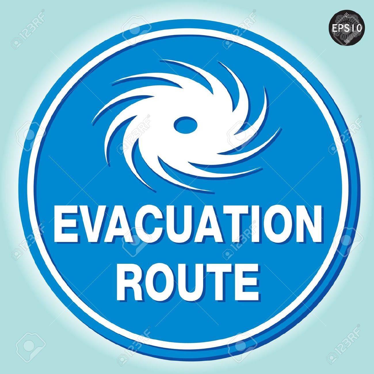 Hurricane Warning Sign Vector Royalty Free Cliparts Vectors And
