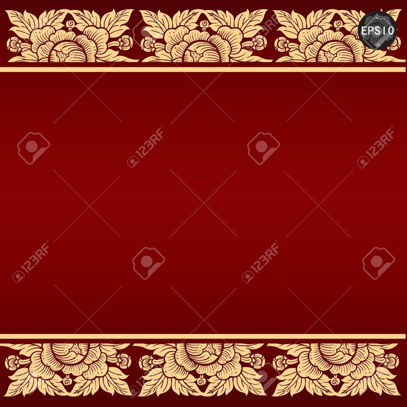 Thai art background, Vector Stock Vector - 17399803