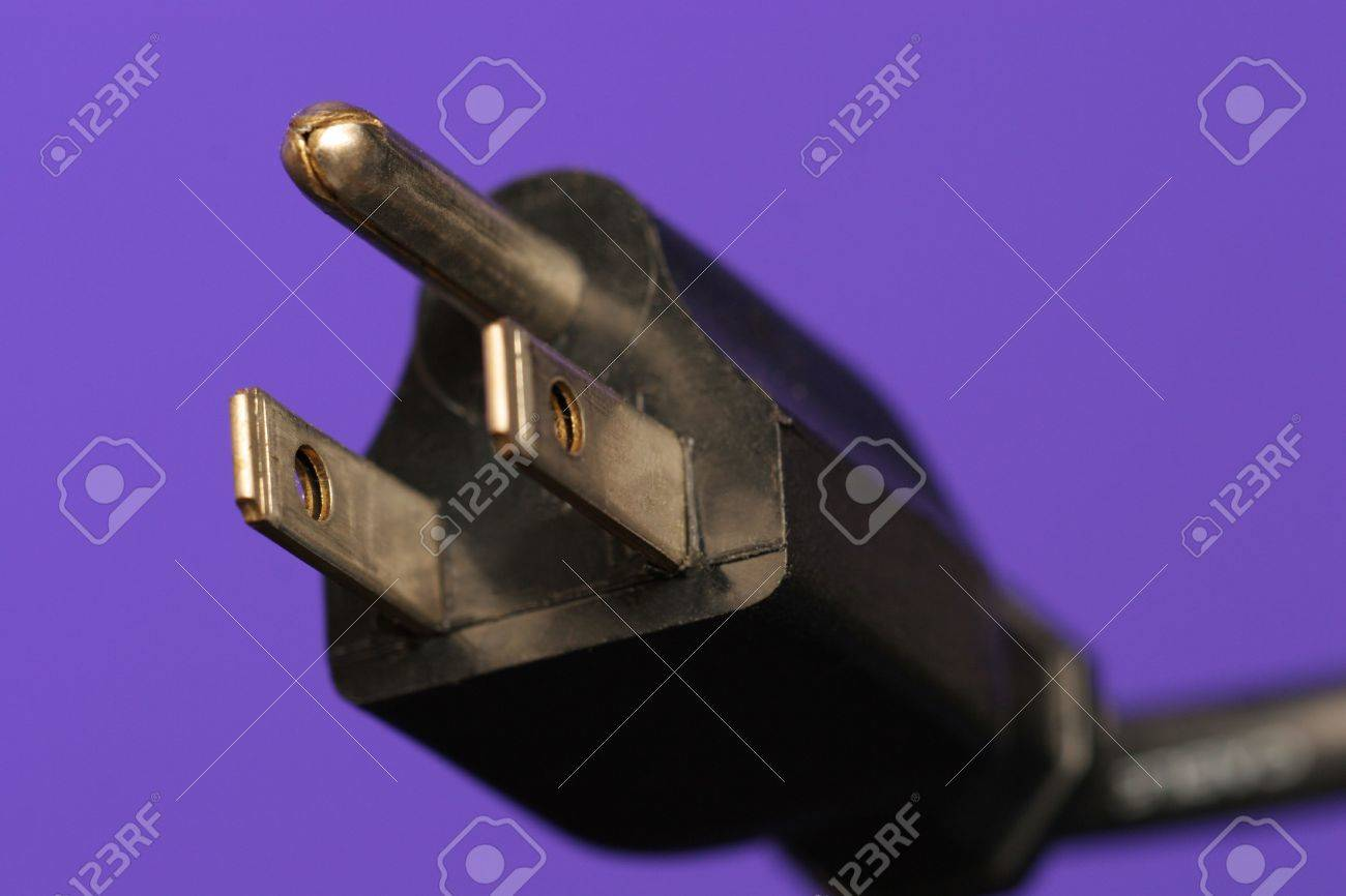 Three Prong Electrical Plug Stock Photo, Picture And Royalty Free ...